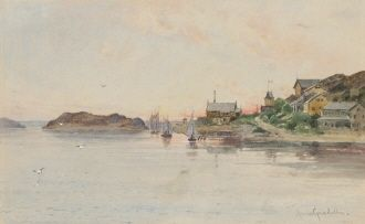 Anna Gardell Ericson  1853-1939 Afton i Lysekil