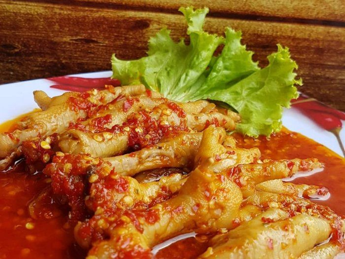 Resep Ceker Mercon Chicken Recipes Food Receipes Food