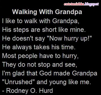 Special Quotes for Grandfathers | Cute Tanishka: Walking With Grandpa | Grand Father Quotes in English
