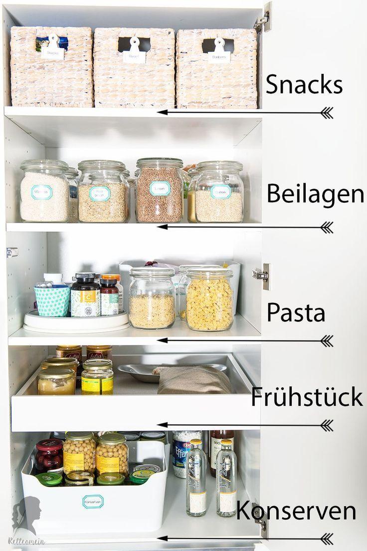 More Order In The Kitchen Organize Storage Cupboard Kitchen Speisekammer Organisieren Kuchenschranke Organisieren Ordnung In Der Kuche