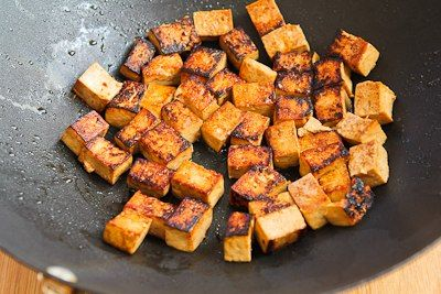Kalyn's Kitchen®: Recipe for Stir-Fried Marinated Tofu and Mushrooms