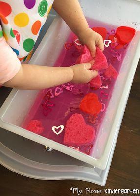 Valentine Sensory Bin and other Valentines Themed Tot School activities and ideas. {Mrs. Plemons' Kindergarten}