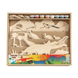 Toy for self-decoration, consists of a scene, 20pcs of  moving figures on the holders, 8pcs of poster paints and brush. The whole packed in a cardboard box of dimensions: 40x50x40cm. Made by Neo-Spiro.