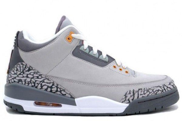 Air Jordan 3 cool grey: Retro Silver Sports Red Lights, Nike Air Jordans, Air Jordans 3, Iii Retro Silver Sports, Graphite Orange Peel, Red Lights Graphite Orange, Jordans Retro, Jordans Shoes, 315297 062 Air
