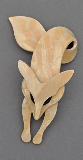 LEA STEIN LOOP TAILED FOX BROOCHES - one of her best-known designs.