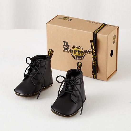 Black Crib Baby Doc Martens | The Land of Nod