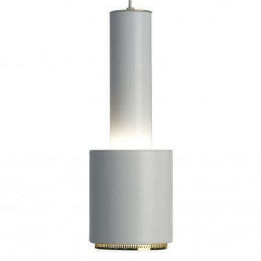 Alvar Aalto A 110 White Modernist Pendant Light by Artek