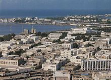 Aerial view of Djibouti City, the capital of Djibouti