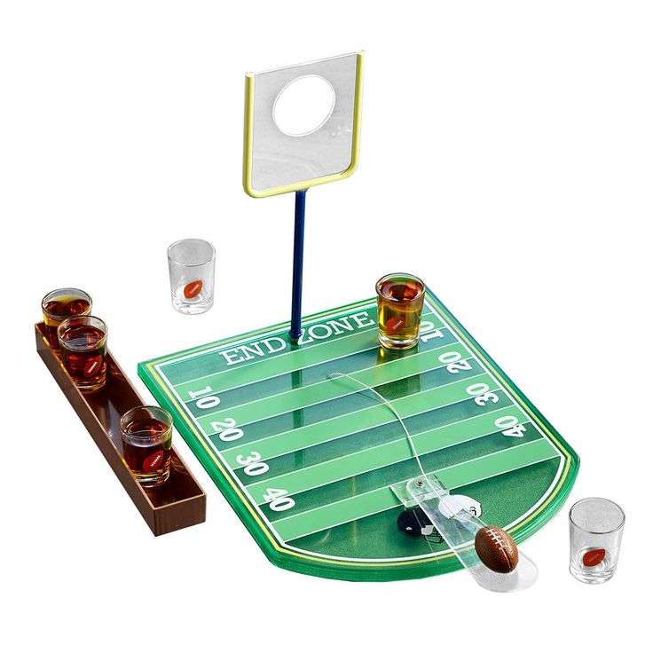 Game Night Football Game Shot Glass Set, Multicolor