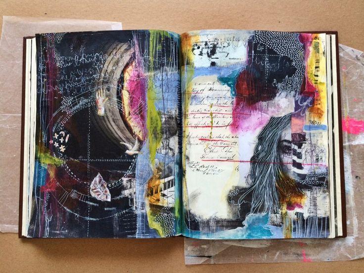connections - art journal - by bun // artist: roxanne coble