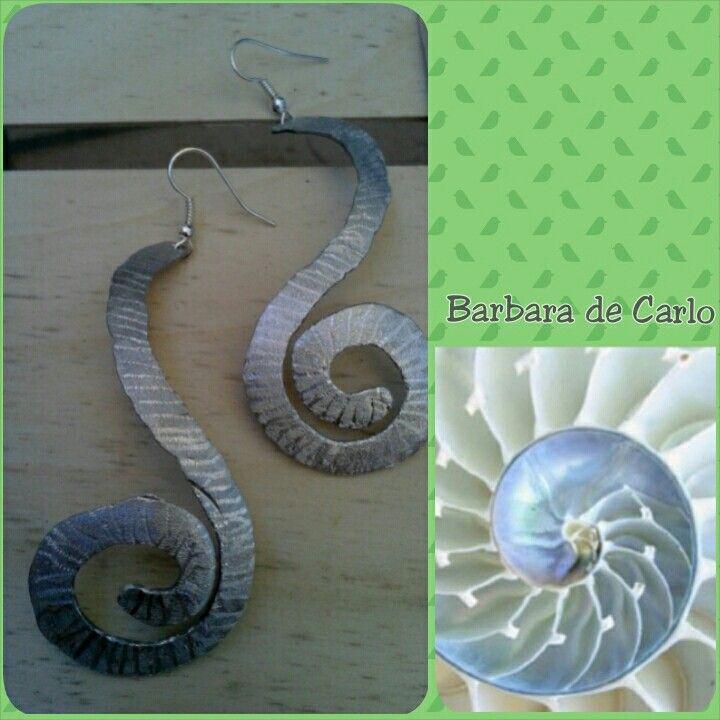 Orecchini Spirale in Alluminio