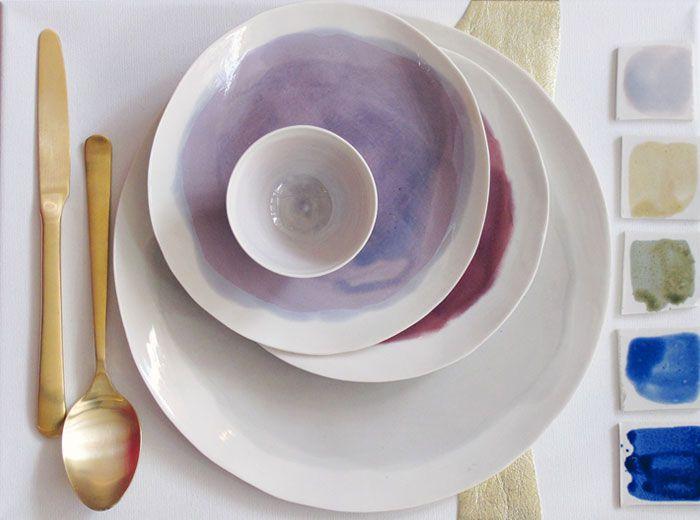watercolor ceramics
