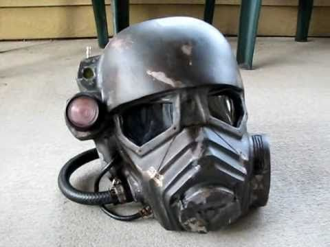 This is the NCR Ranger helmet that I made completely from scratch. All I used was cardboard and the top of a plastic Darth Vader helmet. Then I resined it, s...