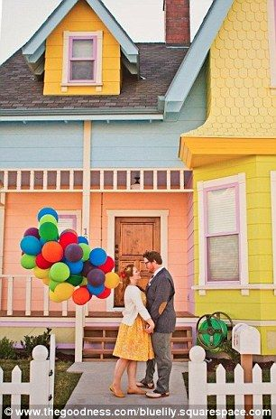 """A perfect replica of the """"UP House"""" near Salt Lake City, Utah. Officially approved by Disney and every detail matched to the film, inside and out. / HOW CUTE. / Road trip, one day? / That will be an awkward conversation with the owners."""