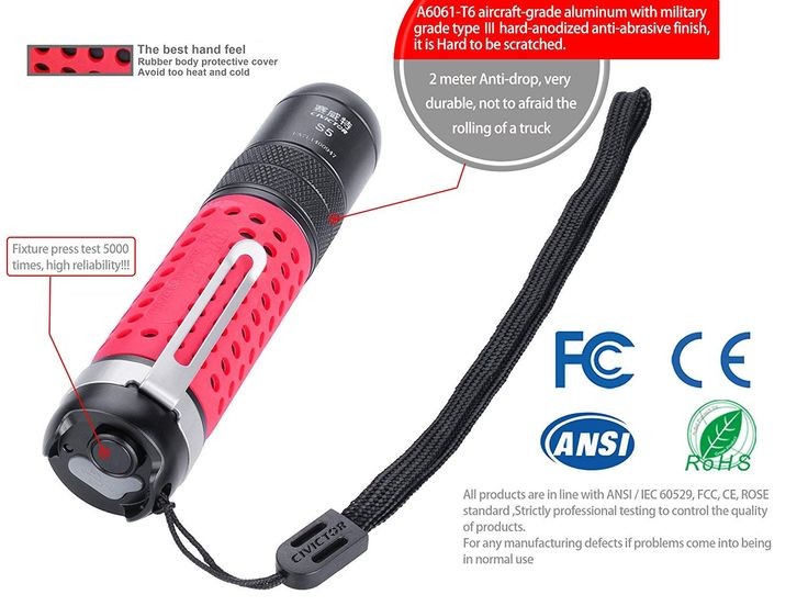 Civictor S5 XM-L2 U2 800Lumens 3Modes Zoomable USB Rechargeable Tactical LED Flashlight Sale - Banggood.com