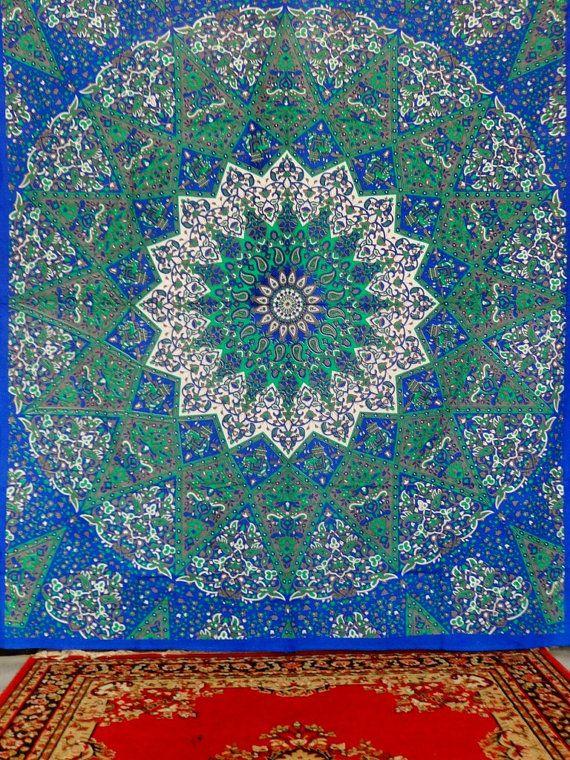 Tapisseries de boh mes toiles univers mandala tapisserie for Tapisserie murale de luxe