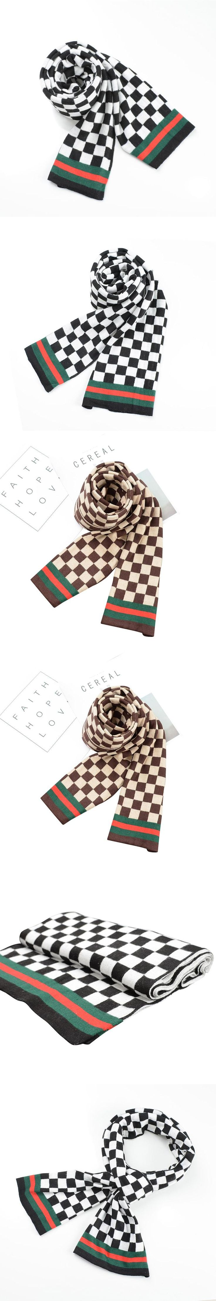 Fashion Brand Top Grade Knitted Blanket Men's Scarf Classic Plaid Winter  Long pashmina warm plaid Scarf for Business Man shawl