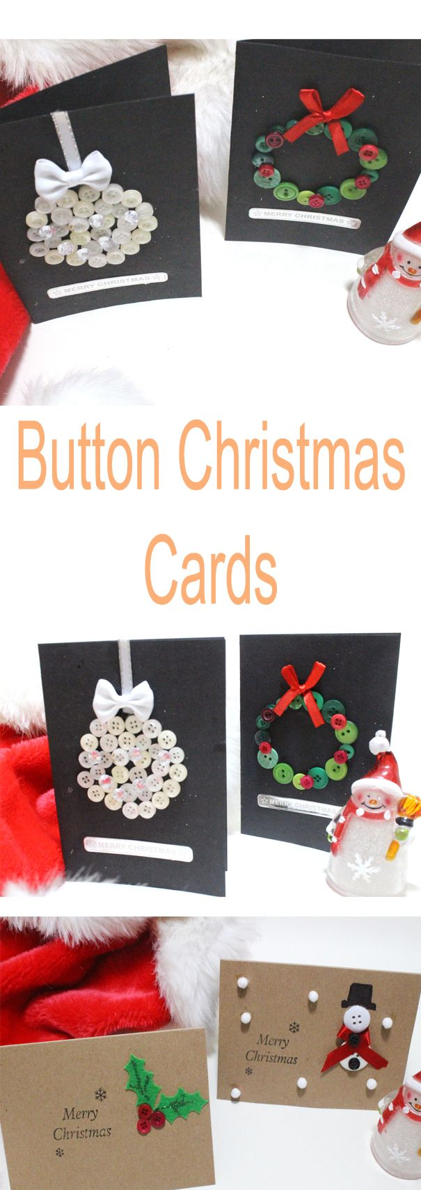 how to make chistmas button cards