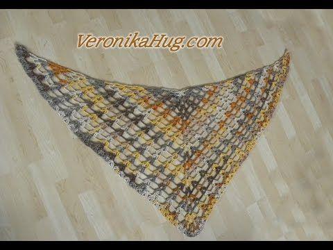 Häkeln - Tuch ALBA Häkeltuch Dreieckstuch - Woolly Hugs 02 - Veronika Hug - YouTube