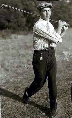 "Walter ""Sir Walter"" Hagen (1892 - 1969) Golfer, won 11 majors, was the first American to win the British Open"