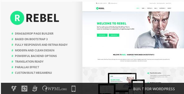 Themeforest WordPress: Rebel – WordPress Business Bootstrap Theme on THEMEFOREST FREE DOWNLOAD http://themeforestfreedownload.com