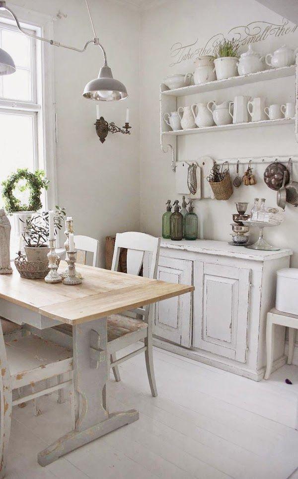 Ideas Deco Como Decorar Cocinas Blancas Estilo Romantico Cocinas - Decoracion-estilo-romantico