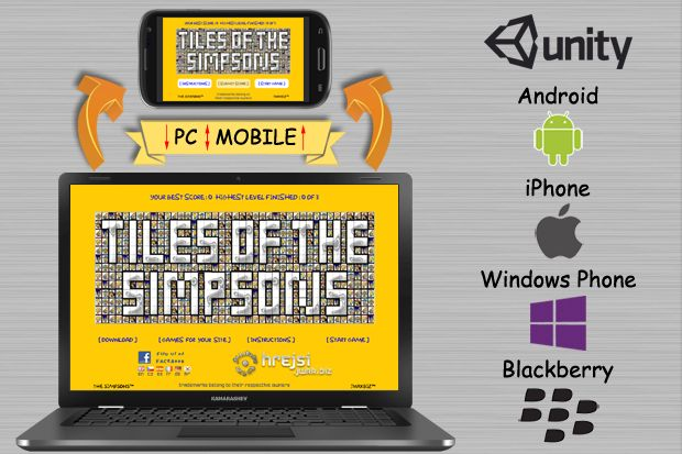 Your favourite game Simpsons™ for your mobile phones. Unique Game - Unique Rewards !