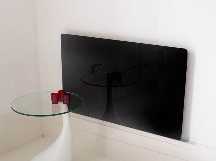 Vitreo Black Glass Small Radiator Cover | Fireplace World