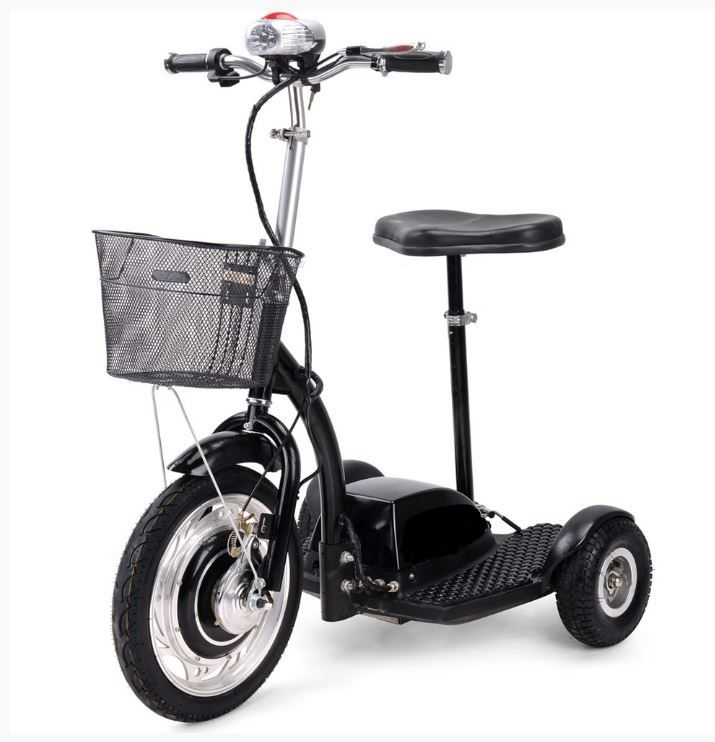 CM-Stand-N-View STAND & RIDE 3 Wheel Electric Utility Mobility Scooter 350 watt motor  36 volt battery