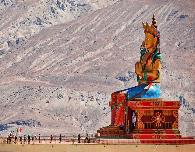 Statue of Maitreya, Ladakh, India.: Maitreya, Mothers India, Dreams Places, Indian Destinations, Diskit, Flickr Giant Statues, Posts, Places I D, Giant Things