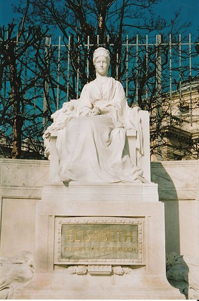 """Photo by Eleazar of Monument by artist unknown of Empress Elisabeth """"Sissi""""…"""