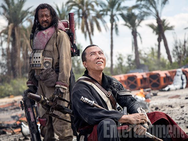 'Rogue One': 16 New Photos from the 'Star Wars' Film - Hong Kong action star Donnie Yen (Ip Man) plays Chirrut Imwe, a blind warrior monk who is not a Jedi but follows the path of the Force, and Chinese martial-arts actor and director Jiang Wen (Devils on the Door Step) co-stars as Baze Malbus, Chirrut's Force-doubting rough-and-tumble protector.