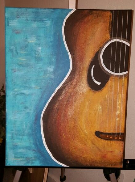 Guitar Canvas Painting My Paintings Pinterest Guitar