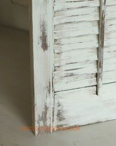 how to paint old shutters and use for decor, home decor, painting, repurposing upcycling, There is no mess with the wet distress method and you have way more control than with sandpaper