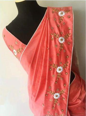 058b190d2 handwork saree Dress Work, Cotton Saree, Silk Sarees, Designer Salwar  Suits, Awesome