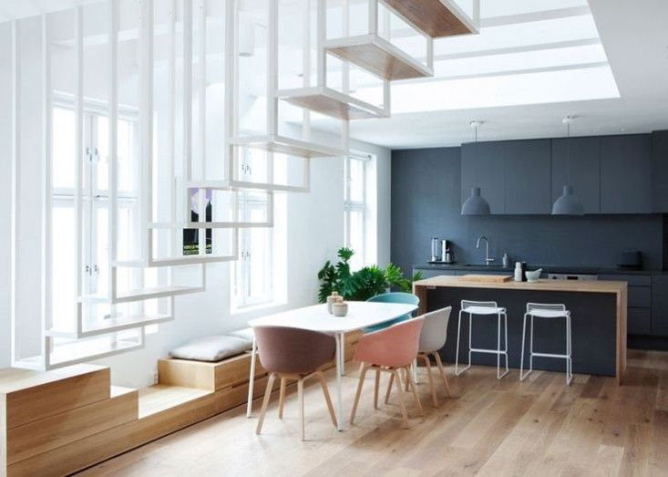 Loving all these colours together and wow, that light... Idunsgate Apartment by Haptic via Dezeen I Remodelista