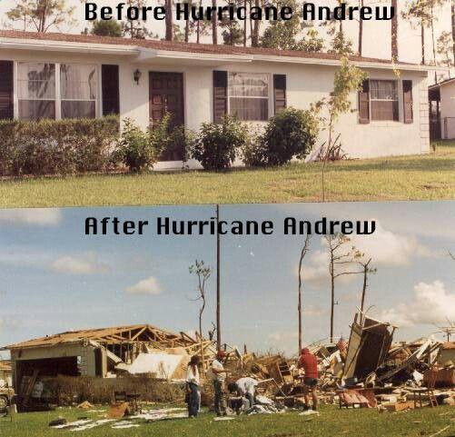 Hurricane Andrew Believe it. It was this bad