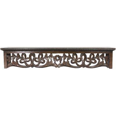 Fetco Home Decor Seth Decorative Wood Ledge & Reviews   Wayfair