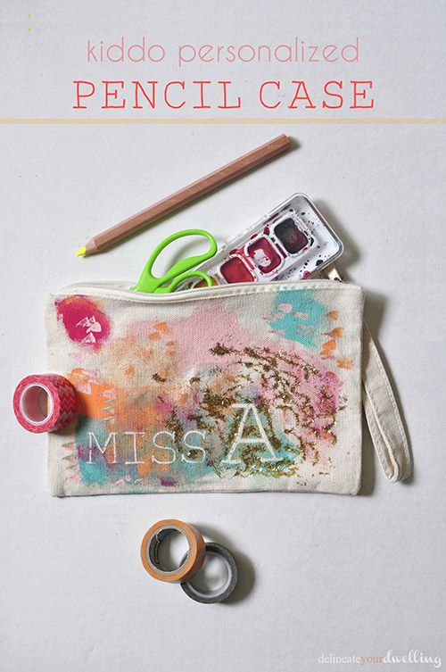 Kiddo Personalized Pencil Case, Delineare Your Dwelling #Elmer's Glue #Wet Ones #backtoschool