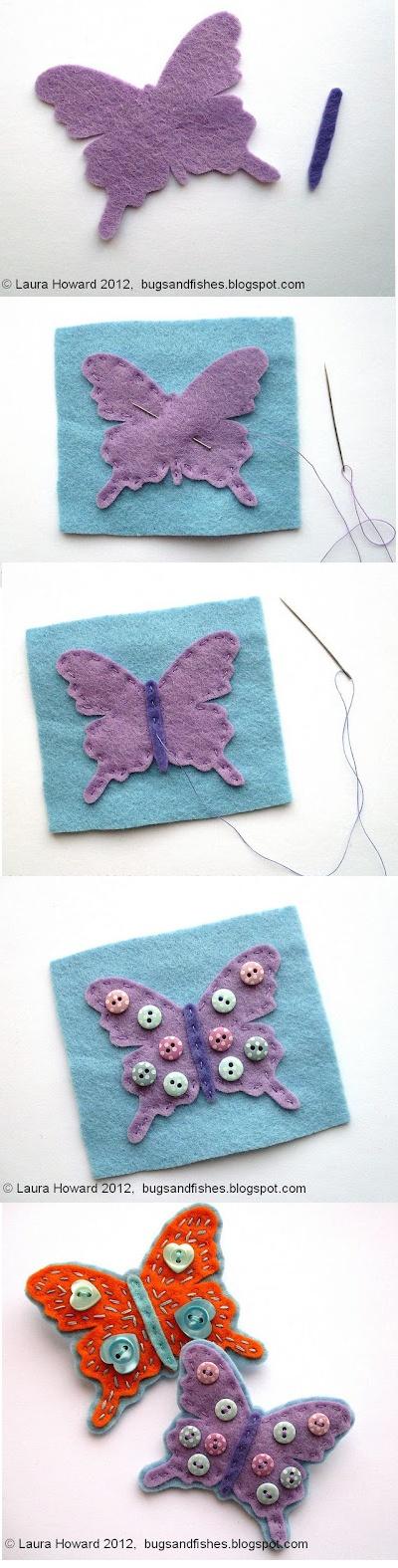 Tutorial paso a paso mariposa fieltro
