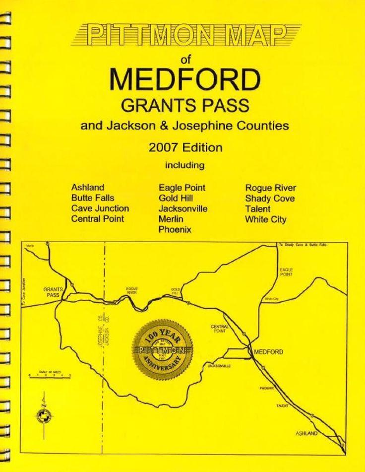 Medford and Grants Pass, Oregon Atlas by Pittmon Map Company