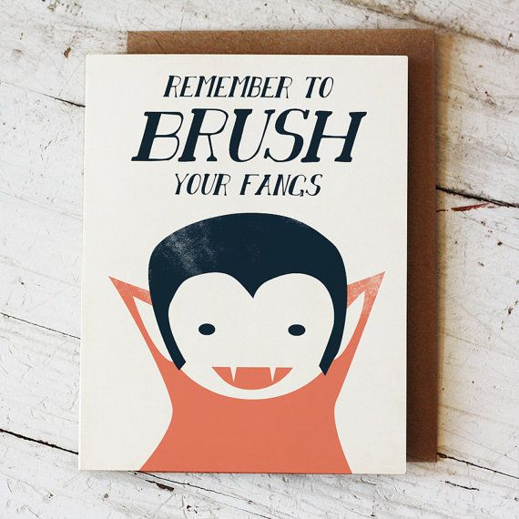 Vampire Fangs Halloween Greeting Card