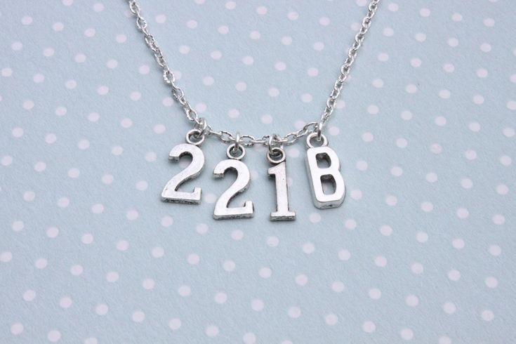 Sherlock Holmes 221B necklace by otterlydesign on Etsy, $20.00