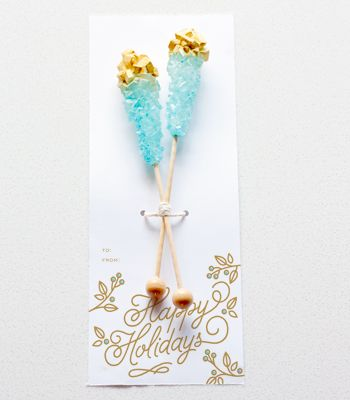 DIY Edible Gifts | Gold Dipped Rock Candy Sticks | Confetti Pop