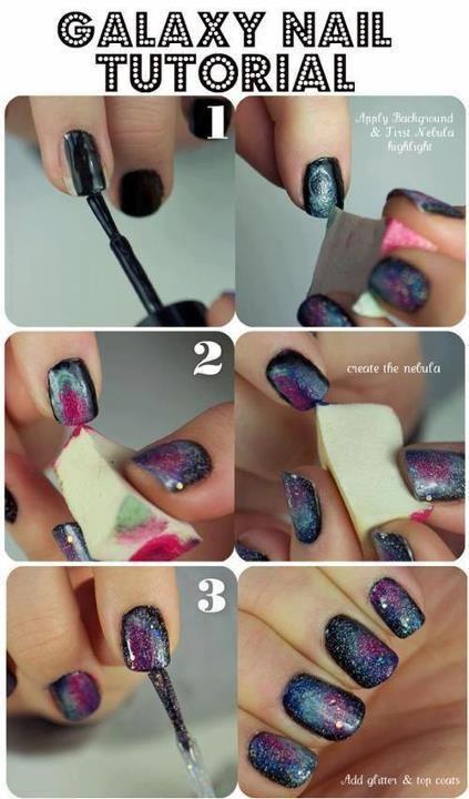 Comment faire une manucure Galaxy ∞