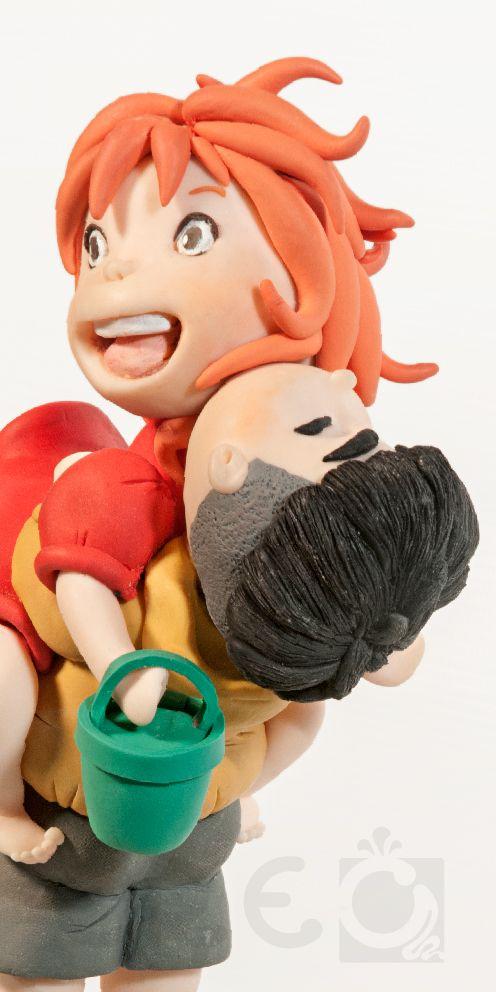 Collection Figures #Ponyo e Sosuke   #Scultura in #argillapolimerica 100%HandMade