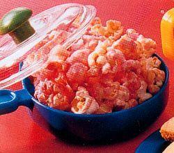 Popcorn met roze karamel