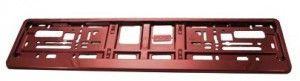 Podkładka ramka  tablicy rejestracyjnej ciemny czerwony metalik