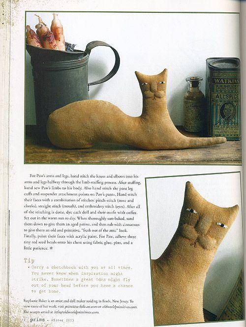 Harold the primitive cat in Prims magazine