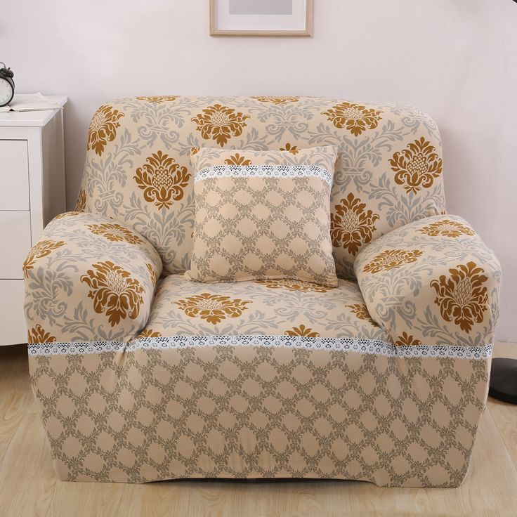 Europe Flora Stretch Furniture Covers Blankets For Sofa Chair Slipcovers Pet Protector Lace Fabric